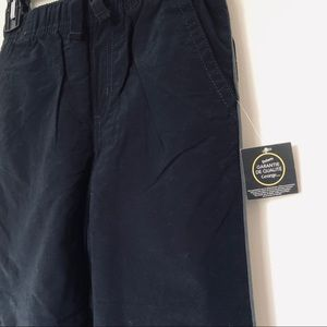 Boys Shell And Cotton Black Pants